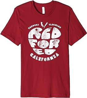Red For Ed California Teacher Vintage Apple Shape Premium T-Shirt