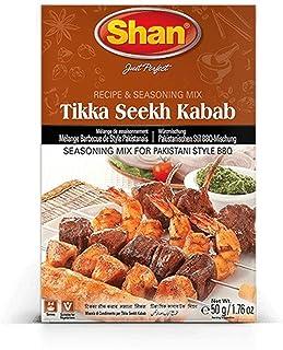 Shan Tikka Seekh Kebab especias para carne picada 50g- mezcal de especias para barbacoa al estilo paquistaní