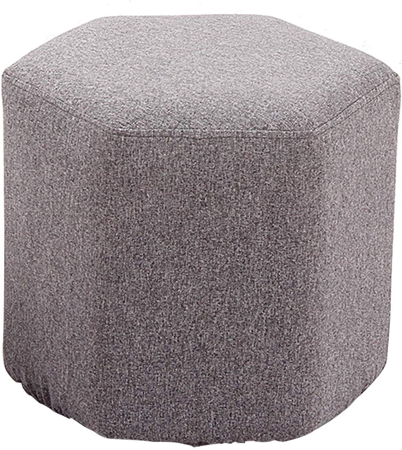 Cute Stool Creative Stool, Strong Load Capacity, Simple Design, Linen Fabric, Suitable for Everyone, Suitable for Living Room, color Choice, 40x40cm