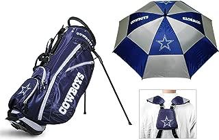 Team Golf NLF Bag & Umbrella Bundle   Includes Fairway Stand Bag, 62