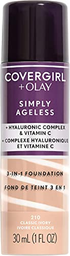COVERGIRL+OLAY Simply Ageless 3-in-1 Liquid Foundation, Classic Ivory