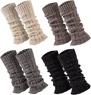 Sockenversandhandel 1 Paar Stulpen Damen Teens Grobstrick Legwarmers Alpakawolle Weich u. Warm ca. 30-36 cm lang