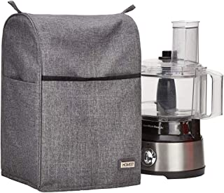 HOMEST Food Processor Dust Cover with Accessory Pockets Compatible with Hamilton Beach 8-10 Cup,...