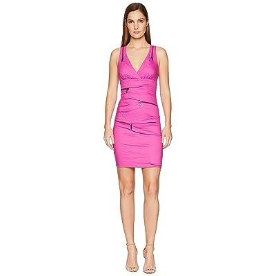 Nicole Miller Front Zip Dress (Shocking Rosa) Women