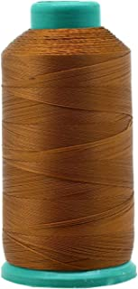 Mandala Crafts Bonded Nylon Thread for Sewing Leather, Upholstery, Jeans and Weaving Hair; Heavy-Duty; 1500 Yards Size 69 T70 (Brown)