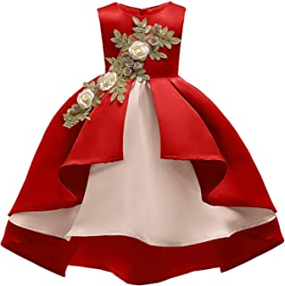 Surprise S Embroidery Silk Princess Dress Wedding Party Dresses Girl Children Fashion Christmas Clothing