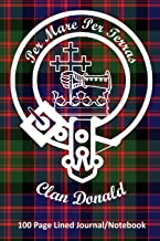 Clan Donald 100 Page Lined Journal/Notebook