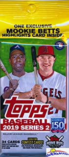 2019 Topps Series 2 MLB Baseball HUGE EXCLUSIVE Factory Sealed JUMBO FAT Pack with 34 Cards! Look for Rookies & Autos of Pete Alonso, Vladimir Guerrero Jr, Fernando Tatis, Eloy Jimenez & More!WOWZZER!