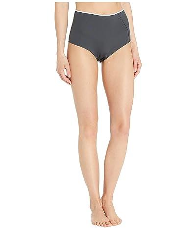 Stella McCartney Body Cut Outs High-Waist Bikini Bottoms (Grey/White) Women