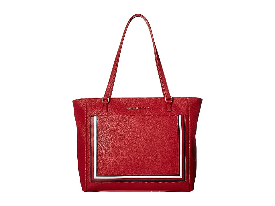 Tommy Hilfiger Carmen Tote (Red) Tote Handbags
