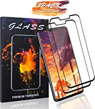 Haorz LG G8 ThinQ Screen Protector [2 Pack] Full Coverage HD Tempered Glass Film Protection Case Friend 3D-Touch Anti Fingerprint Anti-Scratch Bubble-Free Compatible with LG G8 ThinQ