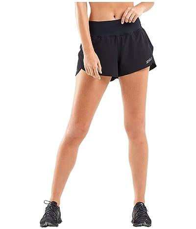 2XU XVENT 3 Layer Shorts (Black/Silver Reflective) Women