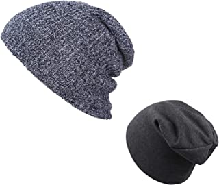 SunTrade 2-Pack Parent-Child Beanie Hat,Winter Warm Cap for Skiing Outdoor
