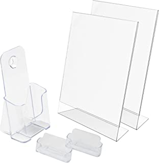 Deflecto New Business Kit, 2 Sign Holders, 2 Business Card Holders, 1 Literature Holder (697KIT)