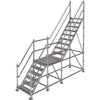 Scafom-rux - Escalera de construcción (para 3 m de altura, acero galvanizado): Amazon.es: Bricolaje y herramientas