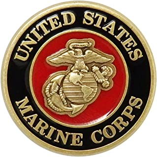 1a5ae35d7bad Indiana Metal Craft US Marine Corps Brass Lapel Pin with Enamel Made in USA