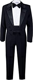 Spring Notion Boys' Black Classic Tuxedo with Tail