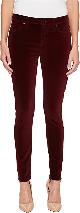 Hudson - Nico Mid-Rise Ankle Super Skinny Velvet Jeans in Lavish