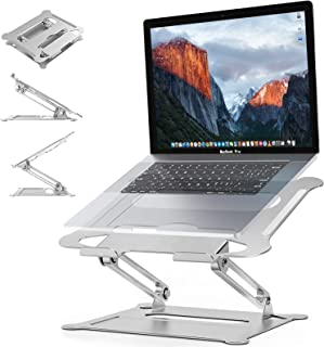 Adjustable Laptop Stand,Suturun Portable Laptop Computer Stand Rriser&Multi-Angle Stand with Heat-Vent to Elevate Laptop H...