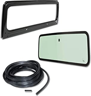 Make Auto Parts Manufacturing - New Windshield Frame & Glass w/3 Pcs. Seal Kit, for Jeep Wrangler YJ, 1987-1995