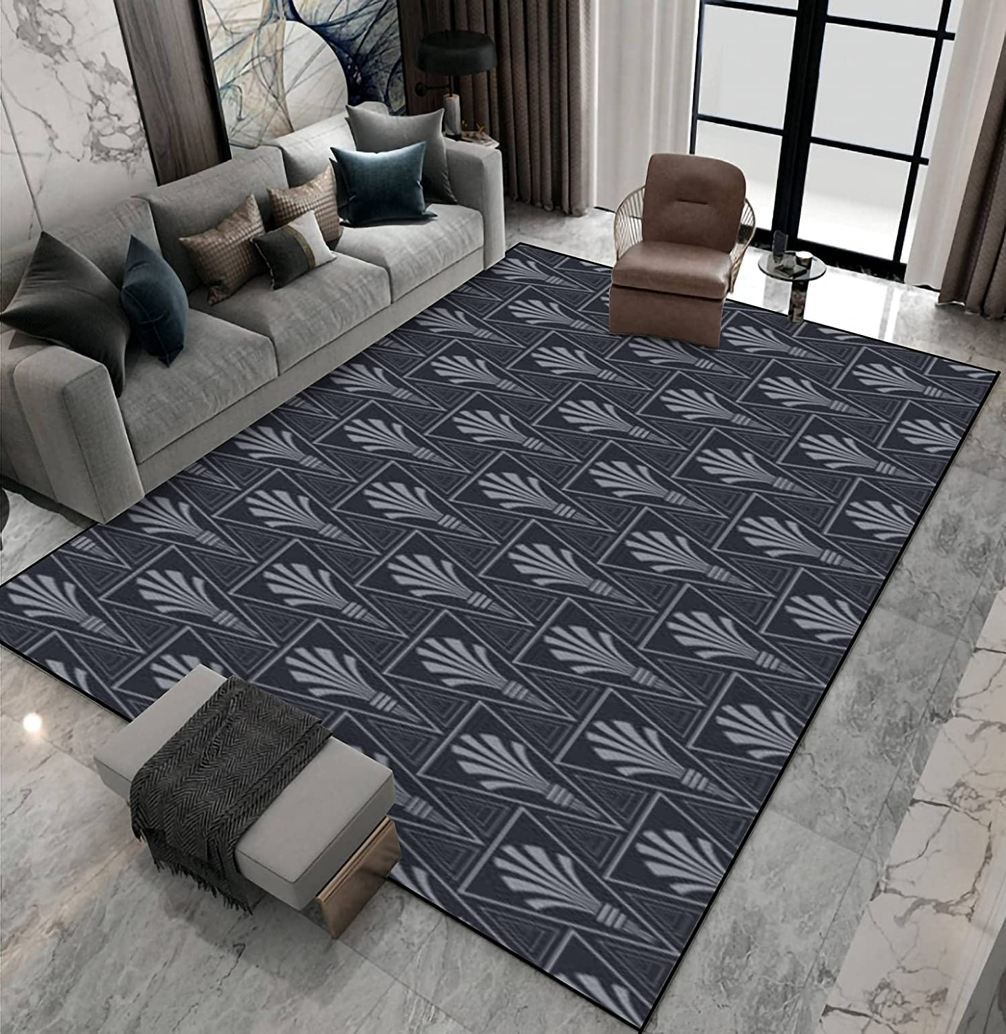 Area Rug Non-Slip Floor Mat Louisville-Jefferson County Mall Clearance SALE Limited time Modern Background Pattern with Geome