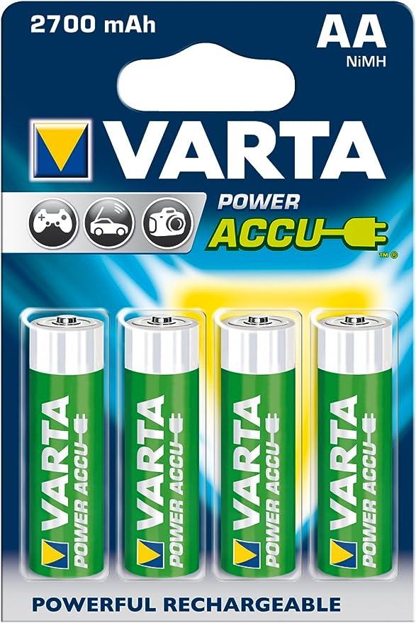 Varta Power Accu Nimh Akku Aa Mignon 2700 Mah 4er Pack Elektronik