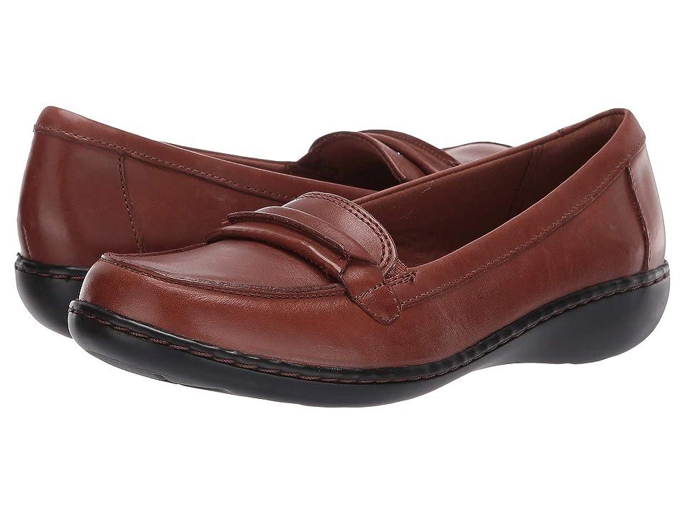 Clarks Ashland Lily (Dark Tan Leather) Women