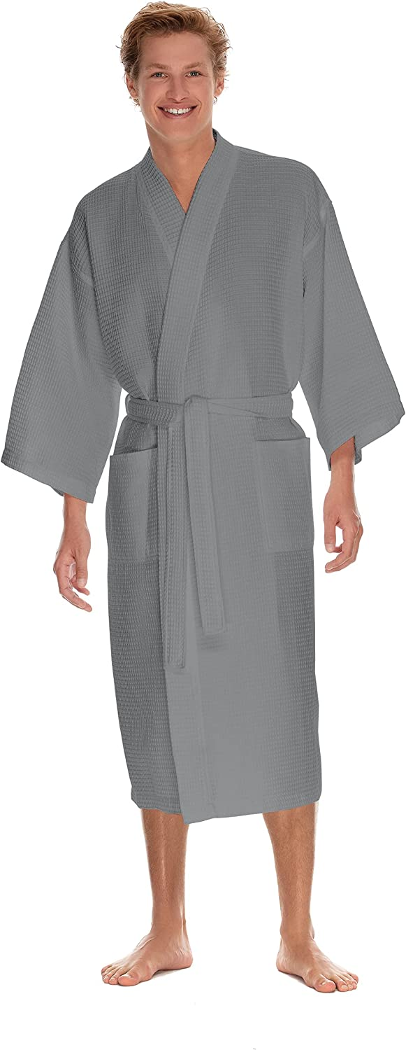 Japan's largest assortment Waffle Robe by BOCA TERRY Spa Knit Max 65% OFF Cott Long Men's
