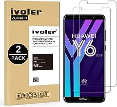 iVoler [Pack de 2] Verre Trempé pour Huawei Y6 2018 / Huawei Honor 7A, Film Protection en Verre trempé écran Protecteur vitre