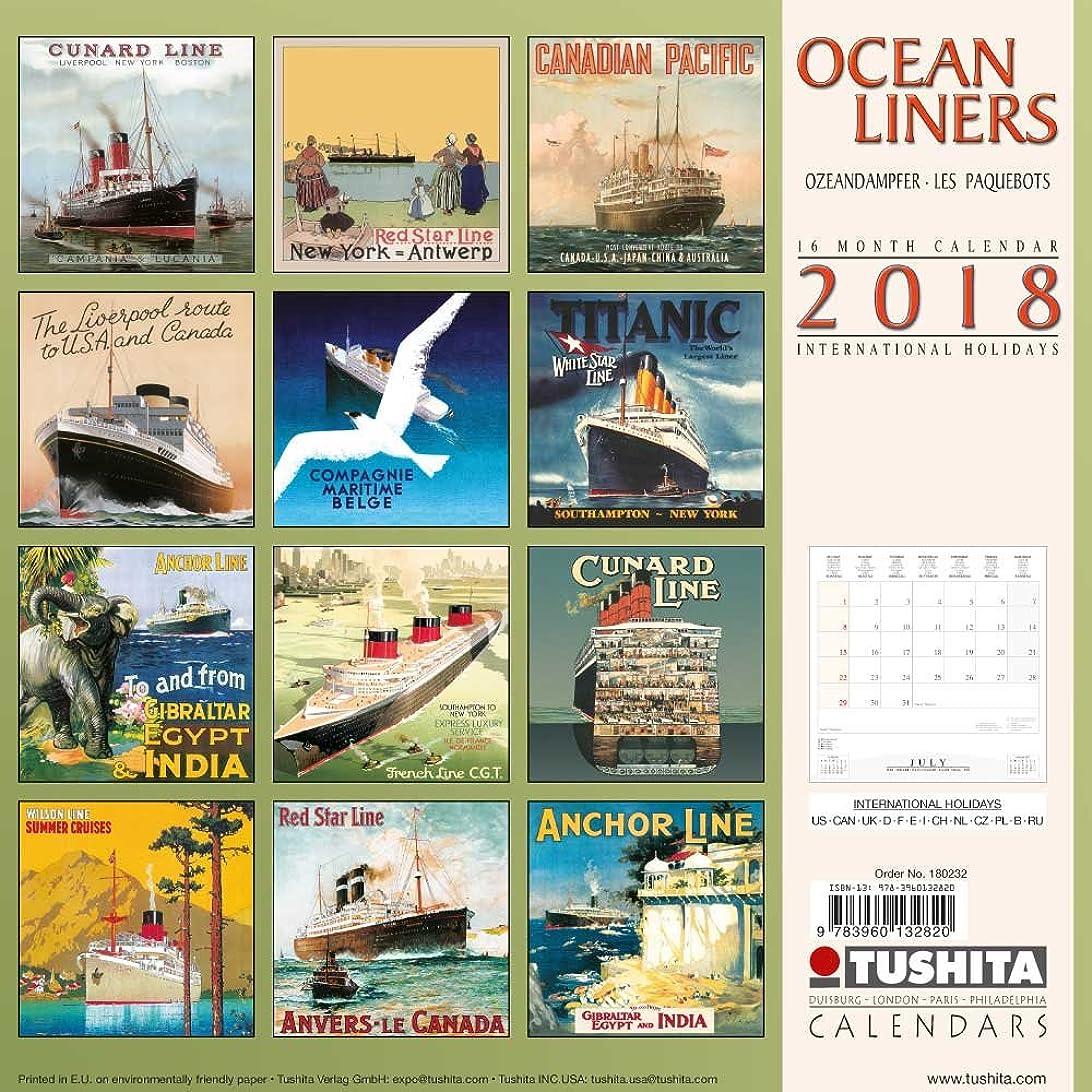 船自分電圧Ocean Liners 2018 (Media Illustration)