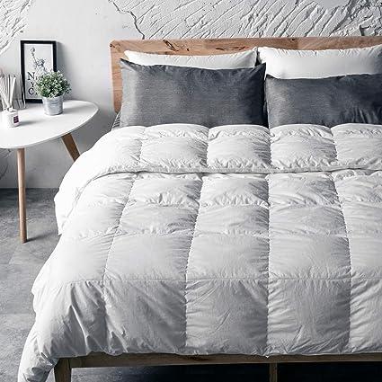 Antar Home Ultra Lightweight All Season Down Comforter Duvet Insert Queen 100 Cotton Shell Real Filling White Down Hypoallergenic White Amazon Co Uk Kitchen Home