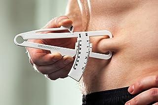 Authentic Platinum Body Fat Caliper, Fat Measure Clipper Combo with Body Fat Percentage Measurement Chart, Body Fat Monito...