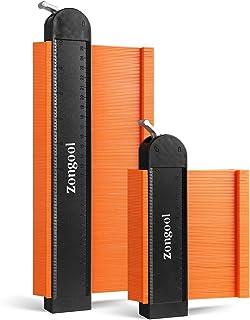 2 بسته ابزار پروفایل اندازه گیری کانتور (5 اینچ 10 اینچ) قفل قابل تنظیم ، کپی دقیق شکل کپی نامنظم ، نجاری جوشکاری ، ابزار اندازه گیری برای DIY Handyman توسط ZONGOOL