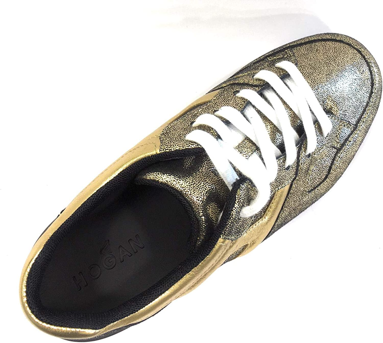Hogan Bambina HXC2220T5480E9 Oro Sneaker Inverno Scarpe Scarpe e ...