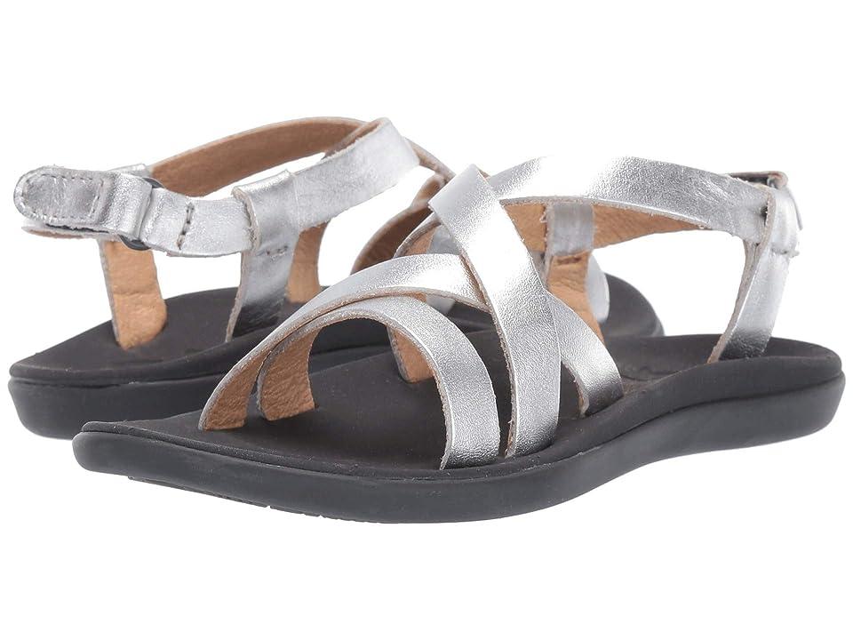 OluKai Kids Upena (Toddler/Little Kid/Big Kid) (Silver/Silver) Girls Shoes