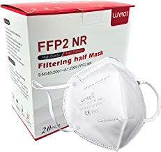 Mascarilla de protección FFP2 – EU CE 2163, certificado EN 149, 20 unidades, color blanco