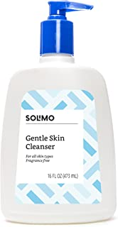 Amazon Brand - Solimo Gentle Skin Cleanser, All Skin Types, Fragrance Free, Dermatologist Tested, Non-comedogenic, 16 Fluid Ounces