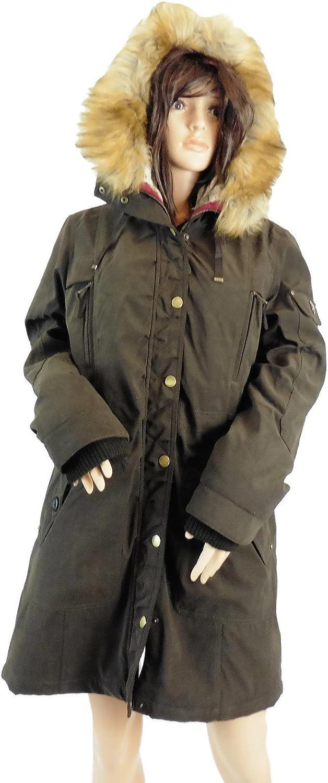 1 Madison Expedition Ladies' Anorak Jacket Faux Fur Hood