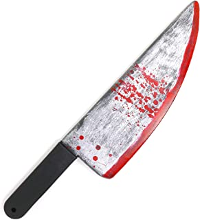 """Skeleteen Large Bloody Knife - 19"""" Long, Realistic Looking Prank Toy, Fake Plastic Blade with Blood Stains - Costume Prop ..."""
