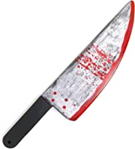 """Skeleteen Large Bloody Knife – 19"""" Long, Realistic Looking Prank Toy, Fake Plastic Blade with Blood Stains - Costume Prop or Gag Blade for Halloween Haunted House, April Fools"""