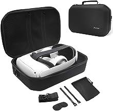 ProCase Custodia per Oculus Quest 2 Cover, Custodia Rigida Antiurto da Viaggio con Tracolla Regolabile per Cuffie per Real...