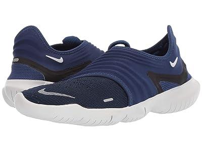 Nike Free RN Flyknit 3.0 (Blue Void/Metallic Silver/Black) Men