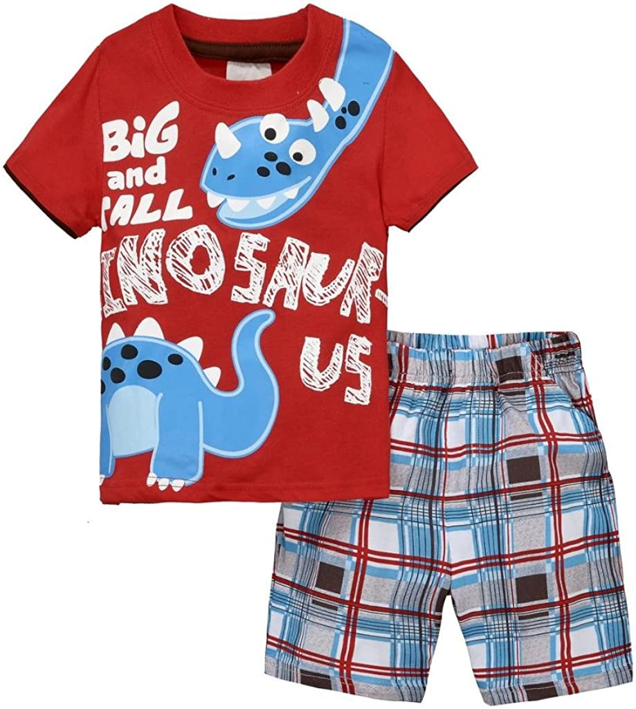 Baby Box Little Boys' Short Sleeve Infant Clothing Set T-Shirt + Short Pants