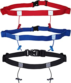 ZOWE 3 Pieces Race Number Belt with for Running Cycling Triathlon Marathon, 3 Colors