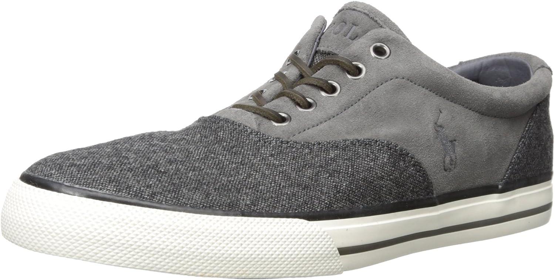 Polo Ralph Lauren Mens Vaughn Saddle Tweed Fashion Sneaker
