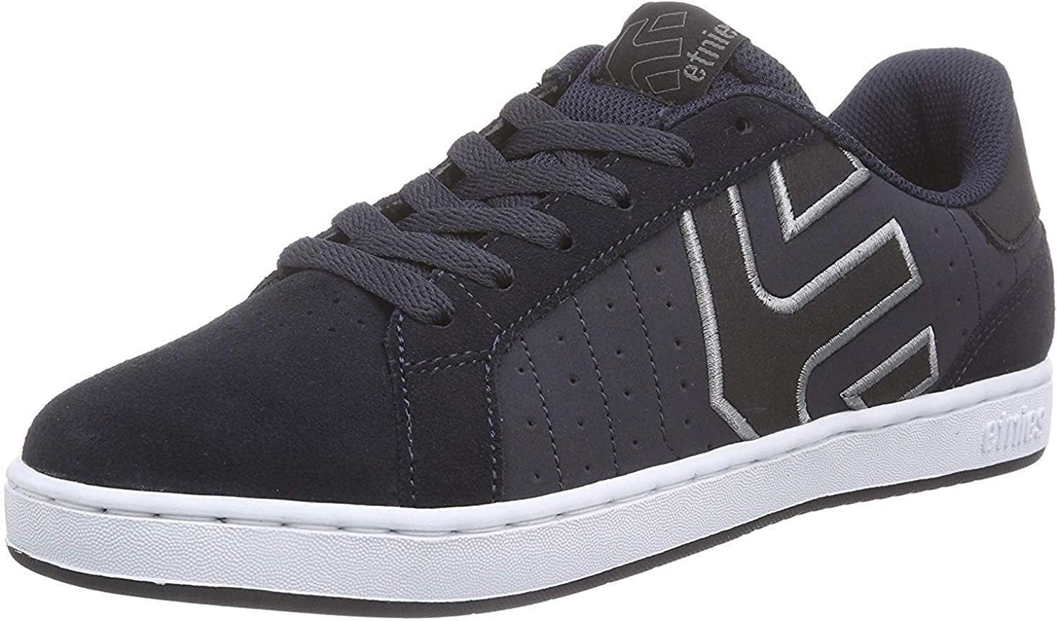 Etnies Fader LS Navy White Mens Leather Trainers