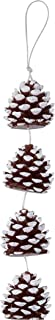 DecoFLAIR Candles On A Rope Scented Tealight Votive Candles, Pine Cone, String of 4 Candles