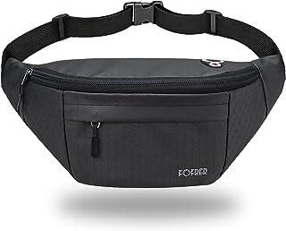 Fanny Pack for Men Women, Waterproof Waist Bag with Adjustable Strap, Hip Bum Bag with 4 Zipper-Pockets for Hiking, Runnin...