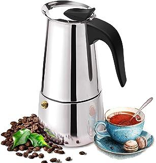 Cafetière Expresso Italienne Moka Pot 2, 4 Tasses Cafetière Moka en INOX, Espresso Maker - Cafetière à Induction Italienne...