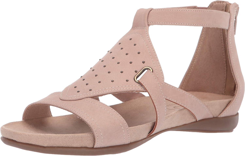 SOUL Naturalizer Women's AVONLEE Flat Sandal, Vintage Mauve, 8 M US